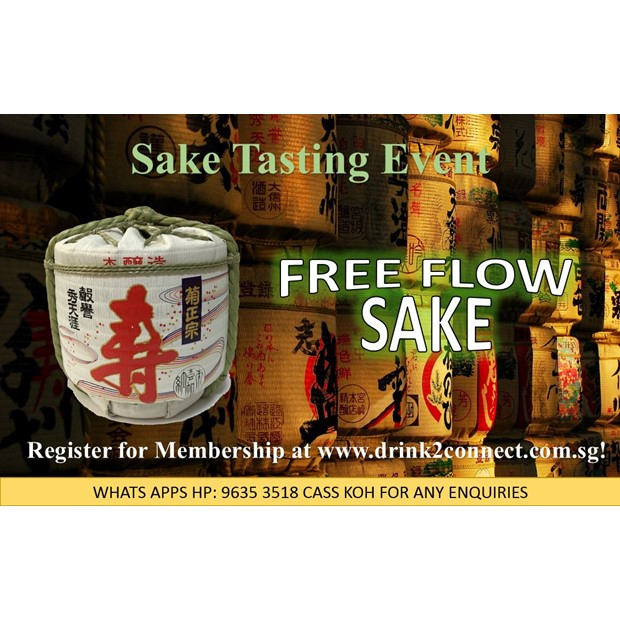 FREE Monthly Sake Tasting Event for VIP Registered Member Only & Limit to 15pax Only