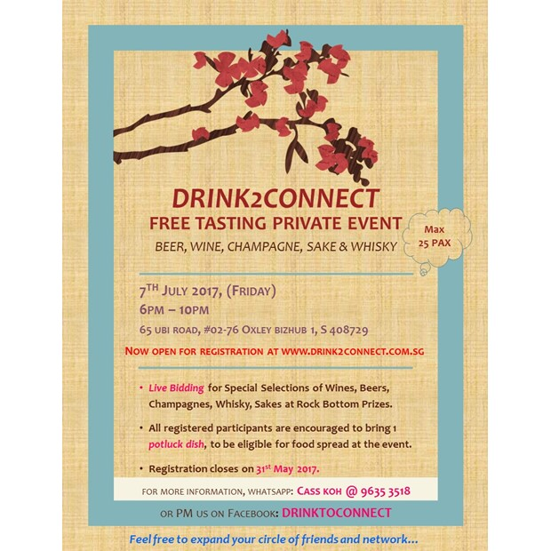 July 7 Free Tasting Event(Beer/Wine/Moscato/Champagne/Japanese Sake/Whisky etc