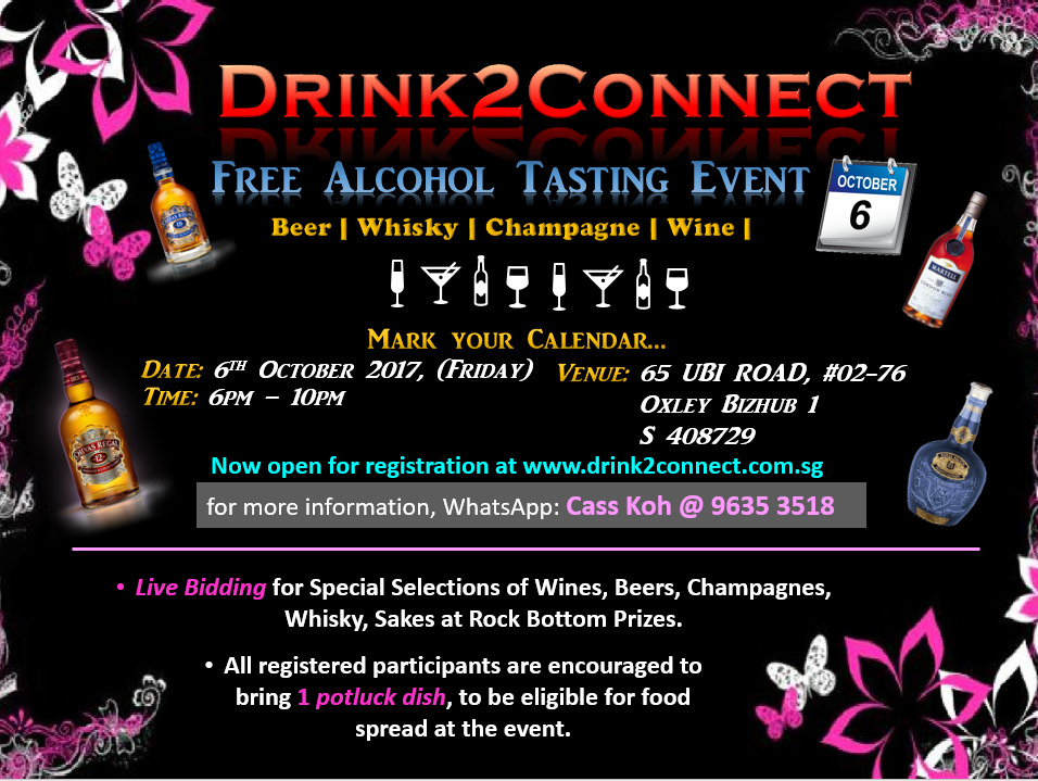 Free alcohol tasting and networking event by Drink2Connect